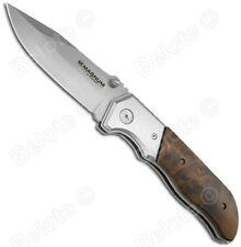 "BOKER MAGNUM Forest Ranger,Burl Wood Scales 440 Steel, 9.25"" 6.6 oz, 01MB233 NEW"
