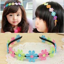 Bébé Enfants Filles Fleur Coloré Serre-tête Bande Cheveux Accessoires