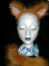 Aristocats Cat Fancy Dress - Toulouse Ears, Tail And Bow Tie Luxury Faux Fur