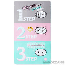 Holika Holika Pig-Nose Clear Black head 3-STEP KIT Strips Packs Masks Peels Care