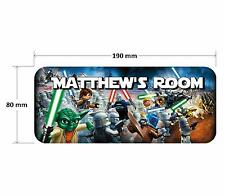 Lego Star Wars 2 Personalised Childrens Bedroom Door Plaque Sign Boys Girls