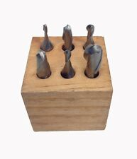 1/8-1/2 INCH 6 PIECE 2-FLUTE M2 BALL NOSE END MILL SET (8001-0006)