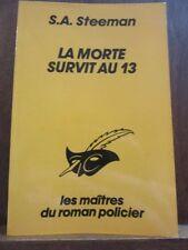 S.A. Steeman: la morte survit au 13/ Le Masque N°1812, Champs-Elysées