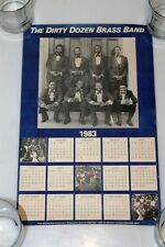 1983 Dirty Dozen Brass Band Mardi Gras Concert Tour Calendar  Poster 1983