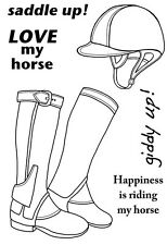 Woodware Clear Singles Rubber Stamp - Riding Boots JGS501
