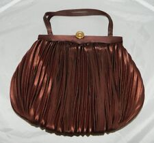 VTG JOSEF Italian Made Brown Sateen Crepe Handbag Purse