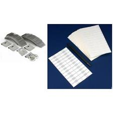 Gray Flocked Earring Display Cards & Adhesive Jewelry Price Tags Kit 600 Pcs
