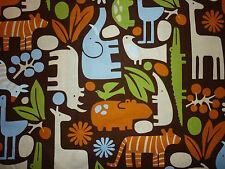Liquidazione FQ 2D animali da zoo GIRAFFE Tigre Tessuto Alexander Henry