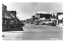 Kalispell Montana Street Scene Store Fronts Real Photo Antique Postcard K22435