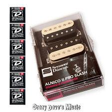 Seymour Duncan Slash Alnico II ProHB APH-2s Set Zebra Rev ZRZ NEW wDunlop Med x6