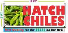 HATCH CHILES BANNER Sign NEW Larger Size Best Quality for the $$$ Peppers