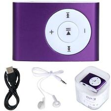 USB Mini MP3 Player Music Support 32GB Micro SD TF Card With headphone Purple