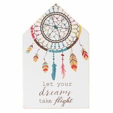 Dream Catcher Sign - Let Your Dreams Take Flight - Modern Home Gift Plaque