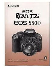 Canon EOS Rebel T2i 550D Manual Spanish New Unused 2012 Instruction Booklet