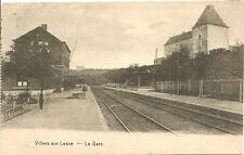 Reproduction photo d'une carte postale de la gare de Villers-sur-Lesse