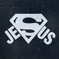 Superman Jesus Sign Logo Car Decal Vinyl Sticker For Window Bumper Panel