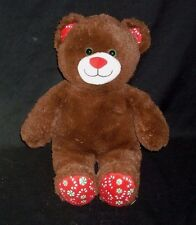 BUILD A BEAR PEPPERMINT CANDY CANE TEDDY CHRISTMAS STUFFED ANIMAL PLUSH TOY BABW