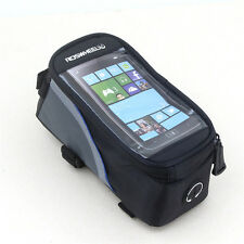 "Cycling Bicycle Frame Pannier Front Tube Touch Screen Bag Roswheel For 4.8"" IOS"