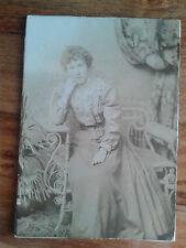 Victorian Edwardian Over Exposed Sad Lady In Elegant Dress. Named. Original
