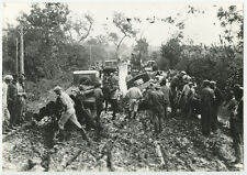 1927 SEMINOLE, OK, TRUCK MIRED IN MUD W/ CROWD, VINT PHOTO REPRINT ONLY