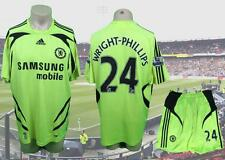 Chelsea 2007-08 EPL away kit shirt maillot shorts Wright-Phillips 24 size L