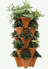 LARGE Vertical Gardening Stackable Planters By Mr. Stacky - Grow More Using And