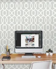 Gray Grand Trellis Peel and Stick NU Wallpaper FREE SHIPPING