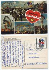 """20123 - Gruß vom Oktoberfest - AK, gelaufen München 5.10.1991 - """"Maß = 8,50 DM"""""""