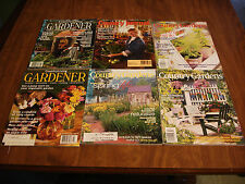 6 MAGAZINE LOT COUNTRY GARDENS MAGAZINE/COUNTRY LIVING/COUNTRY JOURNAL MAGAZINES