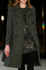 Saint Laurent Hedi Slimane YSL Houndstooth Tweed Wool Belted Trench Coat - FR 40