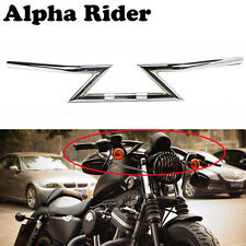 "Chrome 1"" Z Bars Handlebars For Harley Custom Chopper Softail Dyna XL Sportster"