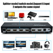 AGPtek® 4K 6X2 HDMI True Matrix with ARC/PIP Function| HDMI Audio Extractor 3D