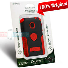LG Optimus 2 AS680 NET L45C Red/Black Cover Trident Cyclops Rugged Hybrid Case