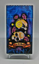 "Eclipse Tattoo ""Life and Death"" Plastic Push-To-Open 100s Size Cigarette Case"