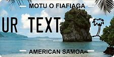 Samoa 2011 license plate Tag Personalized Auto Car Custom VEHICLE OR MOPED