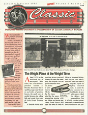 CLASSIC BIKE NEWS Wright Cycles antique bicycle newsletter Volume 1 Number 1