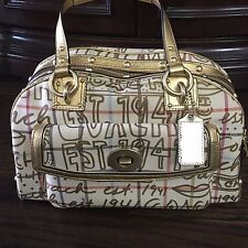 COACH Heritage Tattersall Graffiti Satchel Handbag 13186, ADORABLE!