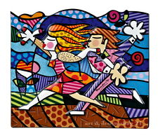 "ROMERO BRITTO - POP ART aus Miami ""LOVE BLOSSOMS"" Porzellan Reliefbild 3D NEU !!"