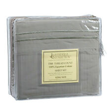 1500 TC THREAD COUNT LUXURY EGYPTIAN COTTON SHEET SET KING SIZE SAGE GREEN