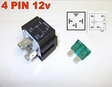 AUTOMOTIVE BLADE FUSE RELAY 4 PIN 12v 30Amp NORMALLY OPEN AUTOMOTIVE VAN ( 28 )