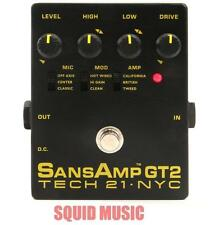 Tech 21 NYC Sansamp GT2 Preamp Stomp Box Record Direct 100%  Analog Circuitry