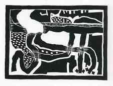Paul HERRMANN - LANDSCHAFT  - Original-Linolschnitt 1980