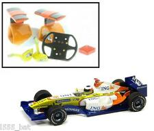 'New' Scalextric W9714 Renault F1 Wing Mirrors, Camera, Steering Wheel & Air Box