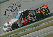 Mike SKINNER SIGNED NASCAR Champion Truck Driver 12x8 Photo AFTAL COA Autograph