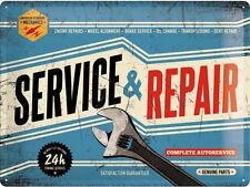 Service & Repair,Garage Vintage Mécanique Pièces,Large 3D Métal estampé Enseigne