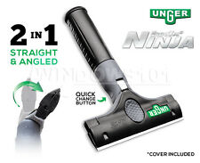 "Unger 4"" ErgoTec Ninja 2-in-1 Scraper for Windows Film Tint Glass Paint Tile"