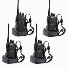 4 x BAOFENG BF-888S UHF 400-470MHz 5W 16CH Ham Two Way Radio Walkie Talkie
