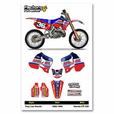 TLD Motocross Graphics Honda CR 250 1992-1994 dirt bike graphics ENJOY MFG