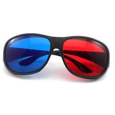 Fashion 3D Anaglyph Movie DVD Game Black Frame Red Blue Lens Glasses Eyeglasses
