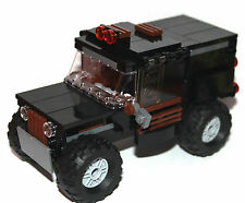 original LEGO NEW PARTS - ARMOURED BLACK CAR - jeep/humvee - my design